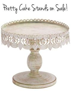 Pretty Cake Stands on Sale + HUGE List of DIY Wedding Tips! - at TheFrugalGirls.com #vintage #weddings #thefrugalgirls