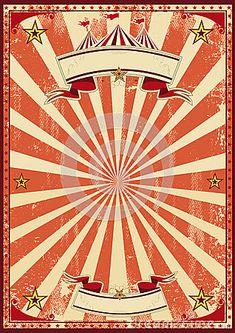 Circo vermelho retro