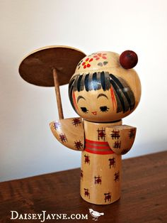 Kokeshi doll Japanese vintage - I actually have one like this...