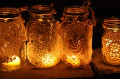 Exterior Glow Paint | ... jars- Beautiful candle holders and outdoor decor for a romantic glow