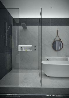 Minosa Design: A real showstopper! Modern Bathroom