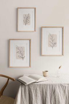 Diy Wall Art, Home Wall Art, Home Art, Wall Decor, Diy Art, Neutral Art, Contemporary Home Decor, Modern Decor, Botanical Wall Art