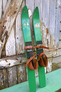 Wooden Snow Skis for Decorating | Add it to your favorites to revisit it later.