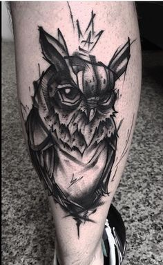 Sten Graffiti owl tattoo