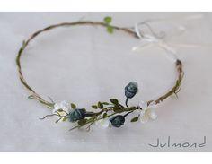 Blumenkranz, Haarband, Blumenkrone *Ani* von Julmond auf DaWanda.com