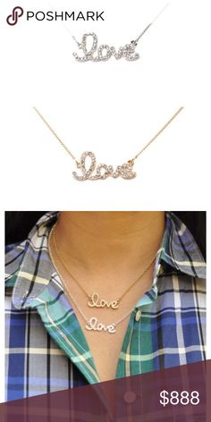 ⟨PRE ORDER⟩18K Gold Plated Swarovski Love Necklace Add a little sparkle to your outfit with this Love necklace. Spread love always ❤️  Composed of 18K Gold Plated Metal, Glass Crystals Nickel free, Lead free  Available in Gold & Silver   PRE-ORDER Bundle Deal: Bundle this necklace with another item for 15% off. Must be 100% before reserving. Comment with your selection, I will create a listing for you. . . . PRICE: $65 . . PRICE FIRM, unless bundled  ⟨10% off 2+ bundles ≫ One time shipping…