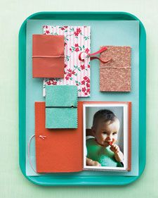 Bulky scrapbooks aren't the only way to keep treasured images close at hand.  Homemade brag book instructions.