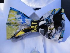 Batman Bowties!  would went great with kaitlyns halloween costume.