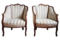 Edwardian Mahogany Chairs, Pair on OneKingsLane.com