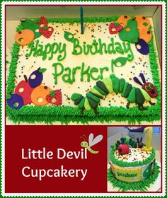 Very Hungry Caterpillar cake and smash cake