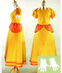 Princess Daisy Costume from Super Mario $ - Game Cosplay Costumes - Trustedeal.com