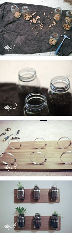 mason jar herb garden - Gardening For You