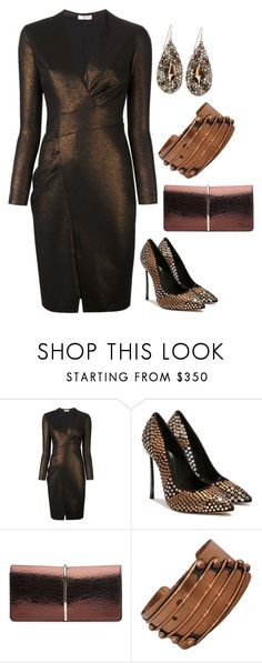 """Let The Festivities Continue #119"" by mscody on Polyvore featuring Emanuel Ungaro, Nina Ricci, Renoir, Alexis Bittar, party, festive, celebrate, festivities and letthefestivitiescontinue"