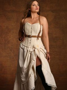 Steampunk is all the rage, and we have the best selection of plus size steampunk costumes & clothing online. Shop steampunk lingerie and more at Hips & Curves. Costume Steampunk, Steampunk Skirt, Victorian Steampunk, Steampunk Clothing, Steampunk Fashion, Steampunk Book, Victorian Style Clothing, Victorian Fashion, Boudoir