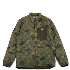 COURTLAND CAMO QUILTED SHIRT JACKET