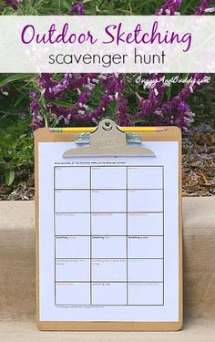 """Outdoor """"Sketching"""" Scavenger Hunt (FREE Printable)~ Buggy and Buddy"""