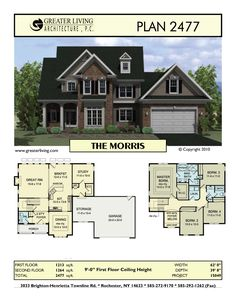 Plan 2259: THE BEASLEY- Two Story House Plan - Greater Living ...