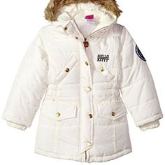 Hello Kitty Little Girls Quilted Long Puffer With Faux Fur Trim Hood, Cream, 6 //Price: $ & FREE Shipping //     #fan World of Hello Kitty https://worldofhellokitty.com/product/hello-kitty-little-girls-quilted-long-puffer-with-faux-fur-trim-hood-cream-6/