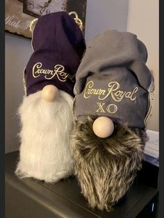Cute Crafts, Crafts To Do, Fall Crafts, Holiday Crafts, Holiday Ideas, Christmas Ideas, Crown Royal Bags, Gnome 4, Best Embroidery Machine