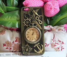 Steampunk watch anchor iphone 6 case iphone 6 plus case,iphone 5 5s case,iphone 5c case,iphone 4 4s case,lg g2 g3 samsung note3 note4 case by Aaroncasestudio on Etsy