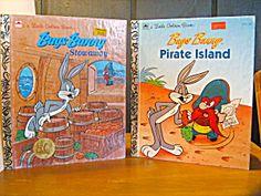 Golden Book Bugs Bunny Pirate Island & Stowaway