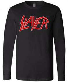 Slayer Logo Band Long Sleeve - UnicornAZ - Fortnite, Sport, Trending apparel Bella Canvas, Size Chart, Band, Tank Tops, Logos, Long Sleeve, Sports, Sleeves, Style