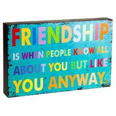 Friendship Sign.