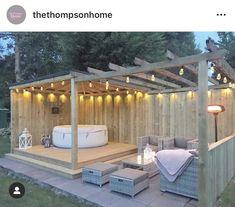 Hot Tub Gazebo, Hot Tub Deck, Hot Tub Backyard, Hot Tub Garden, Hot Tub Patio On A Budget, Design Patio, Back Garden Design, Backyard Patio Designs, Backyard Landscaping