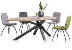 XOOON Colombo Eetkamertafel Dining Set, Dining Table, Diamond Furniture, Solid Oak Table, Outdoor Tables, Outdoor Decor, Outdoor Furniture, Living Room, Metal