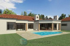 House Plans For Sale, House Plans With Photos, Garage House Plans, Small House Plans, Three Bedroom House Plan, 3 Bedroom House, Double Storey House Plans, Tuscan House Plans, Built In Braai