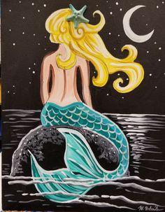 Mermaid Canvas, Mermaid Artwork, Mermaid Drawings, Art Drawings, Mermaid Paintings, Kids Canvas, Canvas Art, Acrylic Canvas, Mermaids And Mermen