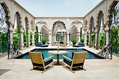 The Palais Namaskar in #Morocco is a 12-acre fantasyland hotel, where Indian and Moorish architecture collide and enormous suites and villas have contemporary Italian furnishings.