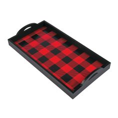 Pair this Wooden Buffalo Plaid Serving Tray with its matching bowls for the perfect football game party accessories. This buffalo plaid pattern is ideal for . Plaid Christmas, Country Christmas, Christmas Wreaths, Christmas Decorations, Christmas Ornaments, Buffalo Check Christmas Decor, Holiday Decorating, Christmas Table Scapes, Homemade Decorations