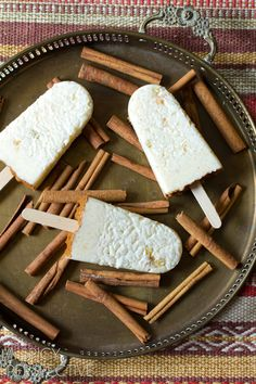 "Mexican ""Arroz con Leche"" Rice Pudding Pops from @Sommer 