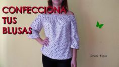 BLUSA SIN HOMBROS:DIY - YouTube