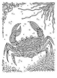 Fanta-Sea Coloring Book Under the Sea Adventure Adult Coloring Book by ChubbyMermaid
