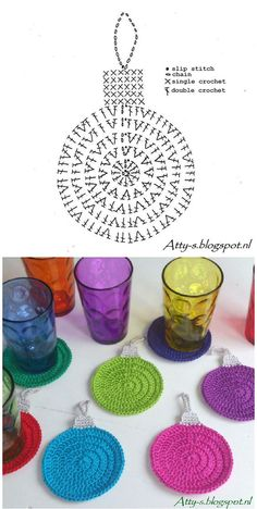 Crochet christmas coasters pattern 53 ideas for 2019 Crochet Christmas Decorations, Crochet Christmas Ornaments, Christmas Crochet Patterns, Holiday Crochet, Crochet Snowflakes, Diy Christmas, Snowflake Ornaments, Easy Ornaments, Christmas Knitting