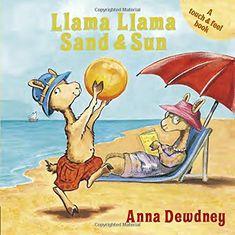Llama Llama Sand and Sun by Anna Dewdney http://www.amazon.com/dp/0448496399/ref=cm_sw_r_pi_dp_paVIvb0Y60CWG