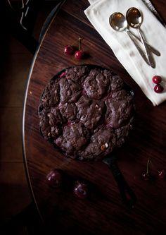 Chocolate Chocolate Chip Cherry and Plum Crumble