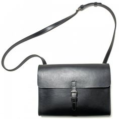 Post Shoulder Bag - Made of herbal tanned neats-leather. With an adjustable and removable shoulder strap.