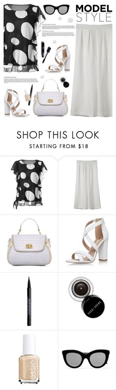 """Model Style"" by tamara-p ❤ liked on Polyvore featuring Miss KG, Urban Decay, Bobbi Brown Cosmetics, Victoria Beckham, Topshop and blackandwhite"
