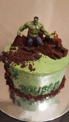 My version of the Hulk cake Savannah bday ideas Pinterest Hulk