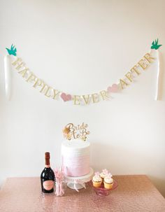 Happily Ever After Banner Bridal Shower by MilkTeaMochiDesigns