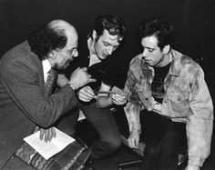 Allen Ginsberg explains Sudoku to Joe Strummer and Mick Jones