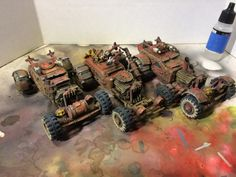 Conversion Fanboy-Customizing for Painted Buggies - Finished! Mad Max Road, Post Apocalyptic Games, Small Drones, Beach Buggy, Custom Hot Wheels, Warhammer 40k Miniatures, Army Vehicles, Mini Paintings, Lounge