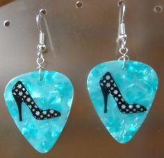 Stiletto Heels Guitar Pick Earrings - I have to find these
