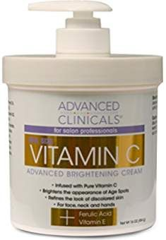 Advanced Clinicals Vitamin C Cream Advanced Brightening Cream. Anti-aging Large >>> You can find more details by visiting the image link. Anti Aging Facial, Anti Aging Skin Care, Vitamin C Cream, Best Vitamin C Serum, Best Anti Aging Creams, Firming Cream, Anti Aging Moisturizer, Organic Skin Care, Skincare