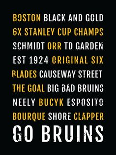 Boston Bruins Print -  Bs - Subway Poster, Boyfriend Gift, Fathers Day Gift, Wall Art, Train Scroll, Bus Scroll, Word Art, Typography