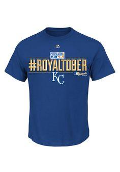 Kansas City Royals T-Shirt - Royal KC Royals Post Season Clinch 2014 Locker Room Short Sleeve Tee