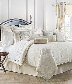 Waterford Paloma Damask and Leaf Velvet Jacquard Comforter Set #Dillards